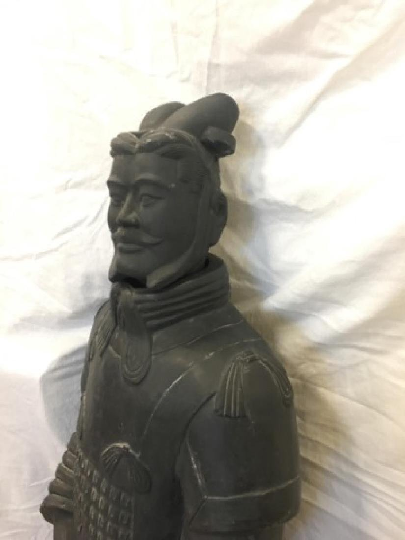 Large Chinese Xian Clay Warrior General Statue - 5