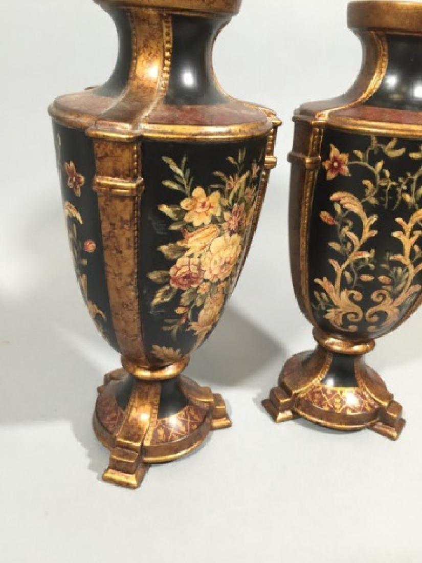 Pair Contemporary Italian Baroque Style Vases - 2