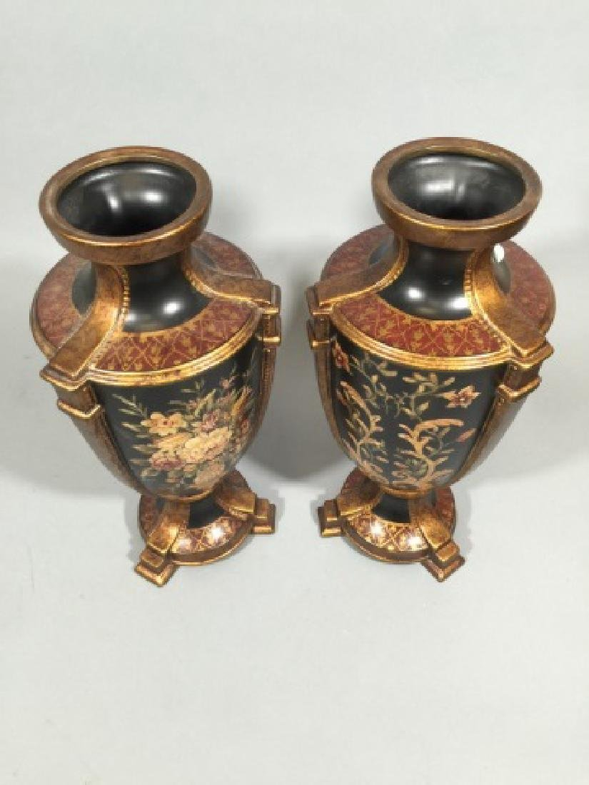 Pair Contemporary Italian Baroque Style Vases - 3