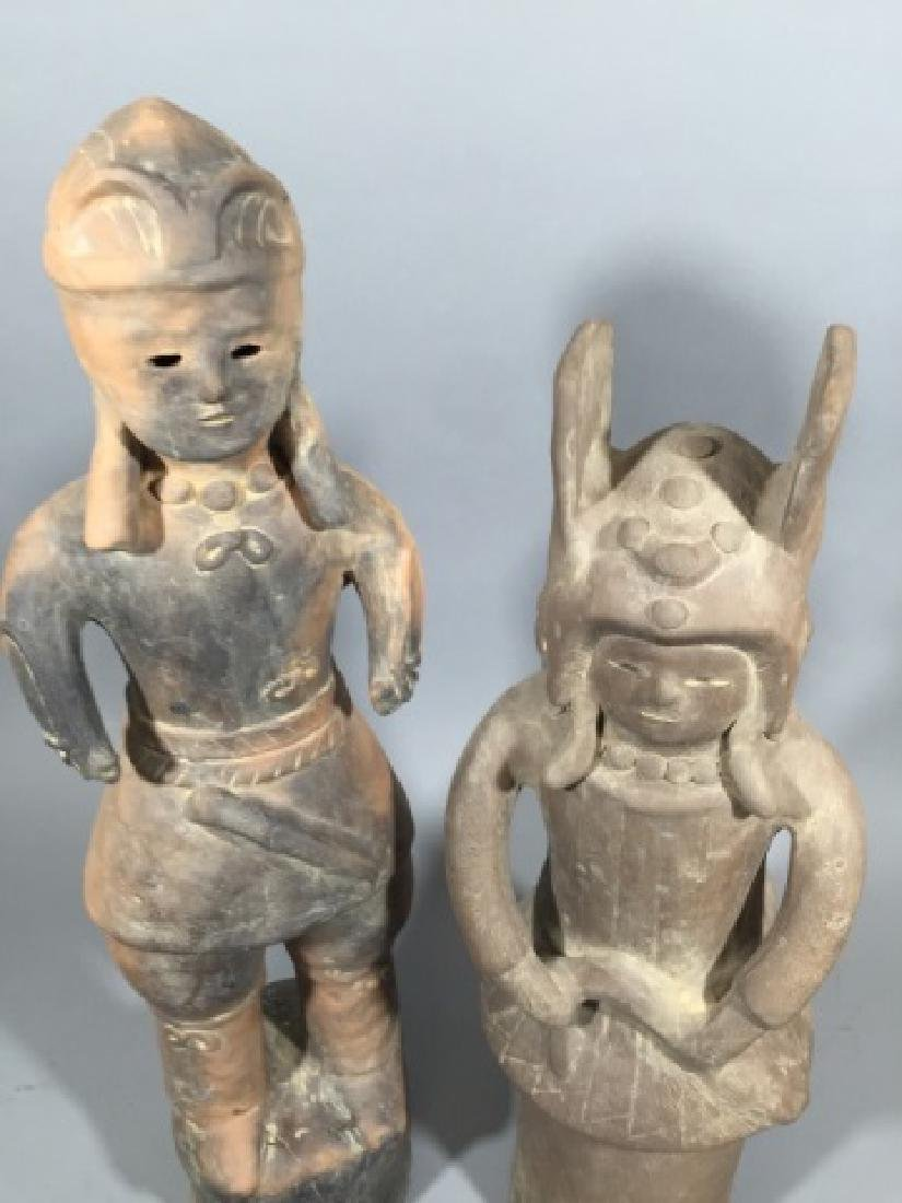 Two Chinese Haniwa Terracotta Funeral Statues - 3