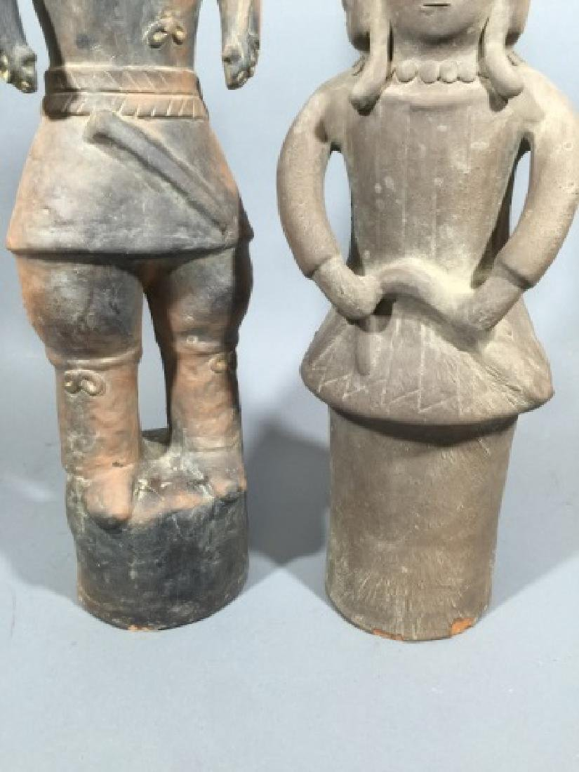 Two Chinese Haniwa Terracotta Funeral Statues - 4