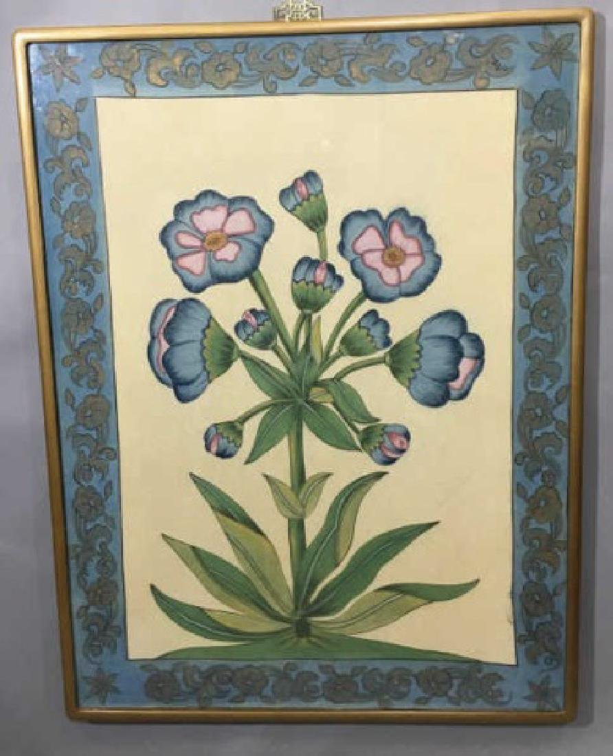 Large Framed Chinese Floral / Botanical Print