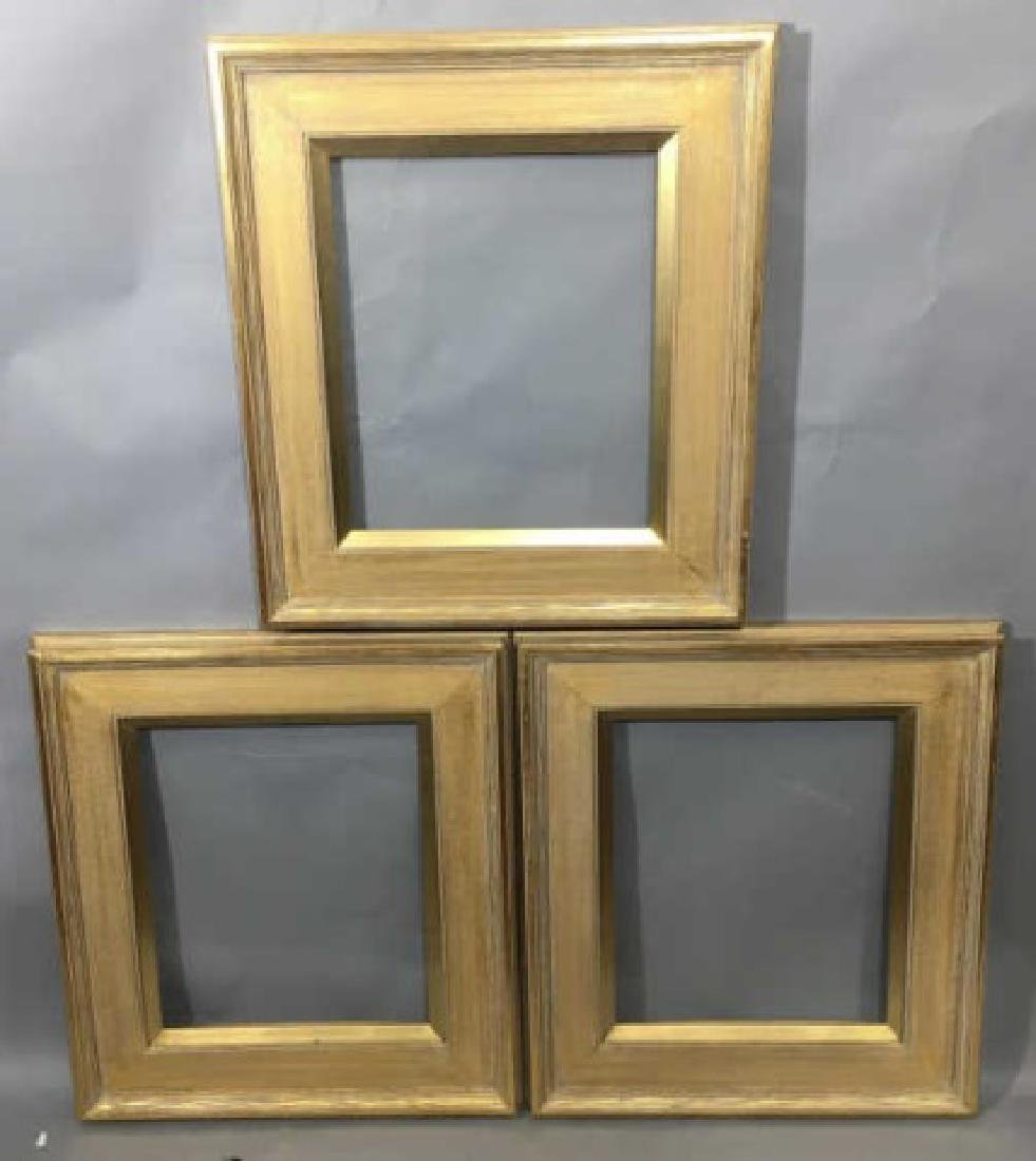 Three Contemporary Gilt Wood Picture Frames