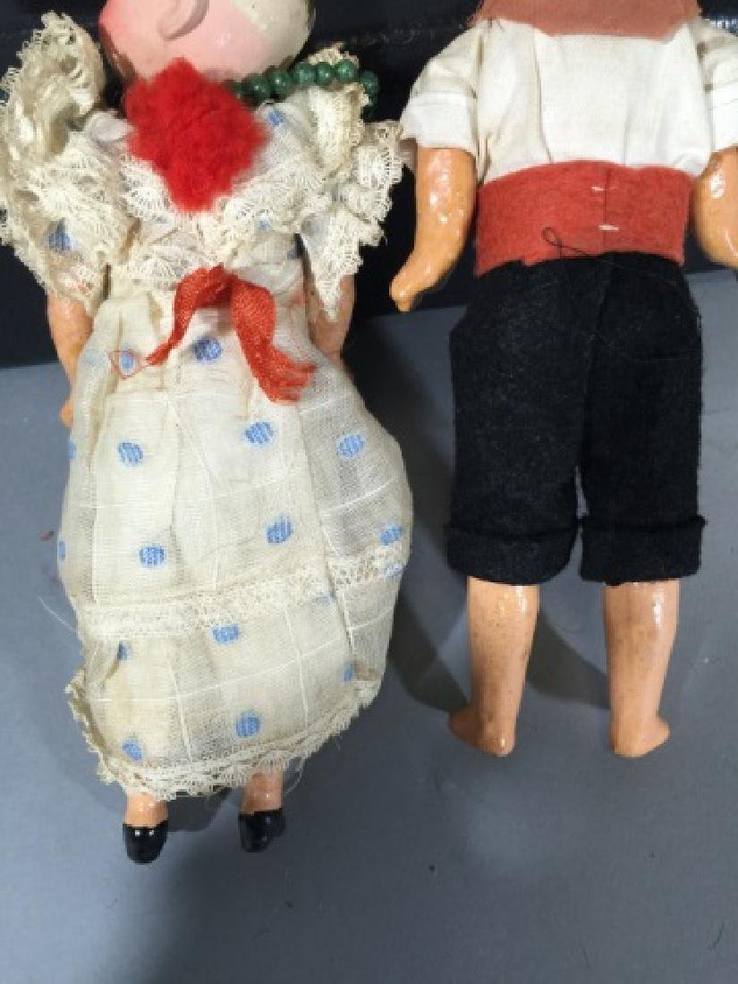 Two Antique German Dollhouse Size Dolls - 2