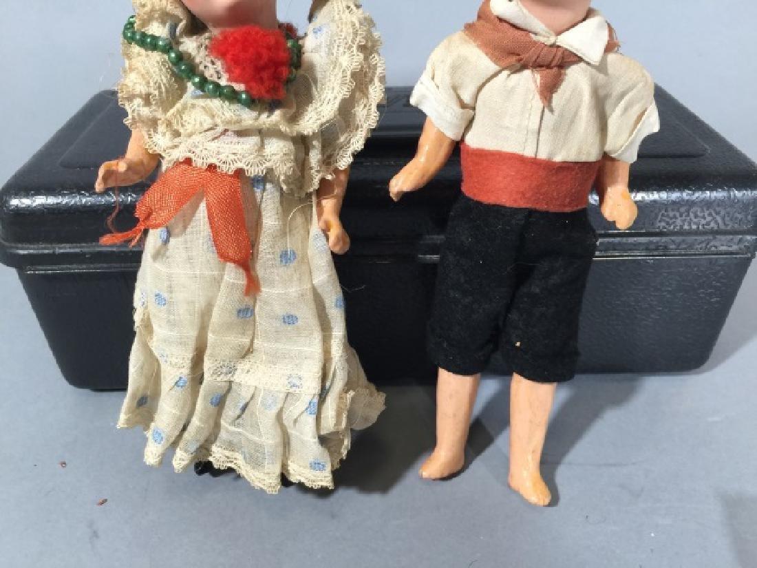 Two Antique German Dollhouse Size Dolls - 3