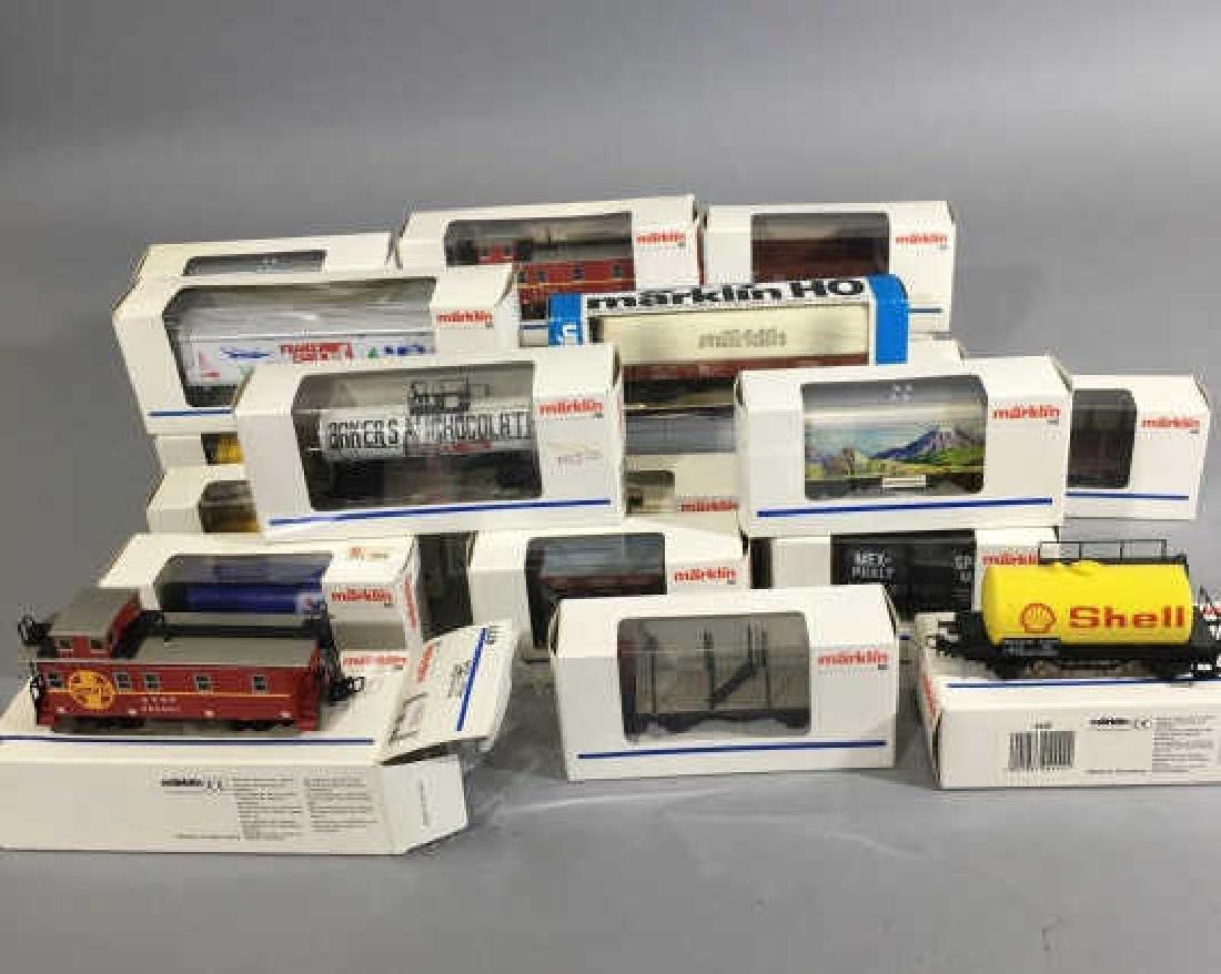 25 New-in-Box Marklin German Model Train Cars -Med