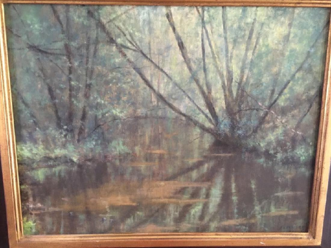 Kevin Partridge - Signed Landscape w Lake Painting - 3