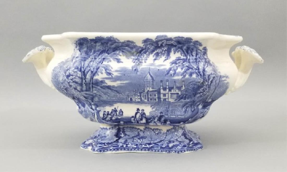 Antique 19th C English Masons Vista Cache Pot