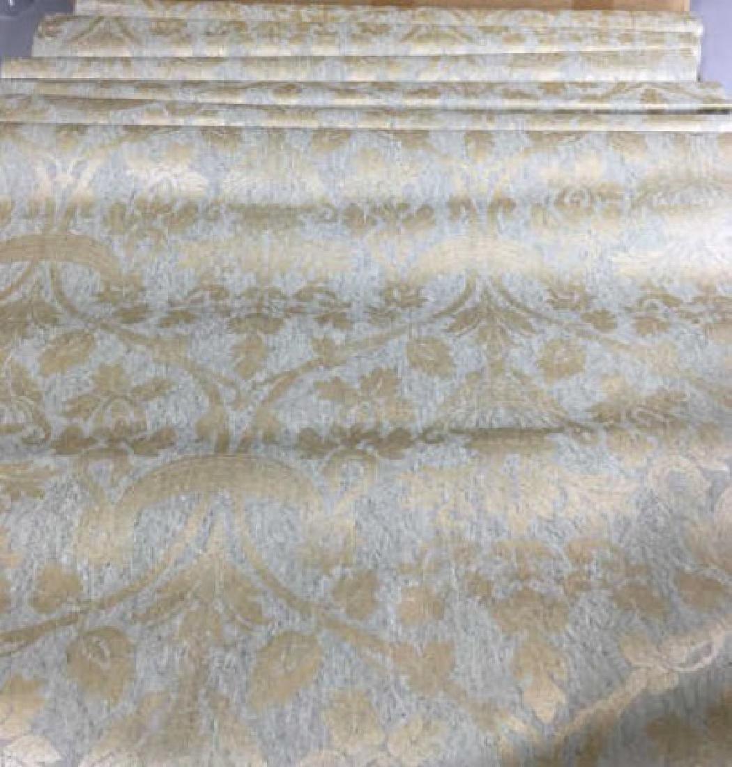 15 Rolls Sage & Gold Wallpaper - 6 Unopened
