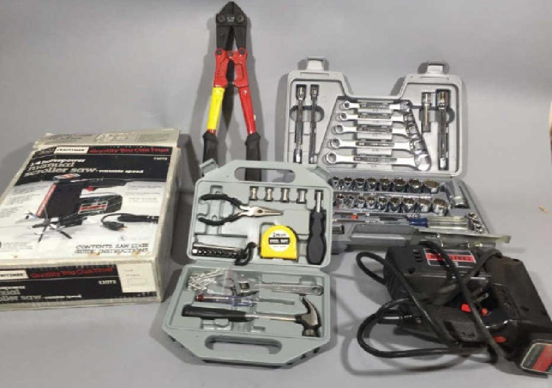 Assorted Tools & Sets, Incl Craftsman Saw & Wrench