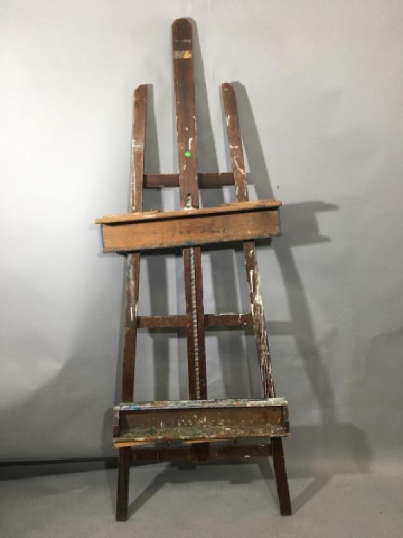 Medium Artist Wooden Crossbar Easel