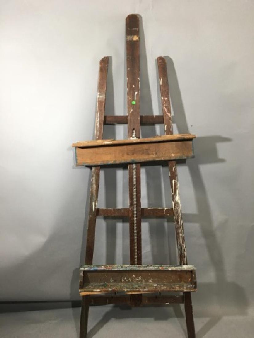 Medium Artist Wooden Crossbar Easel - 2