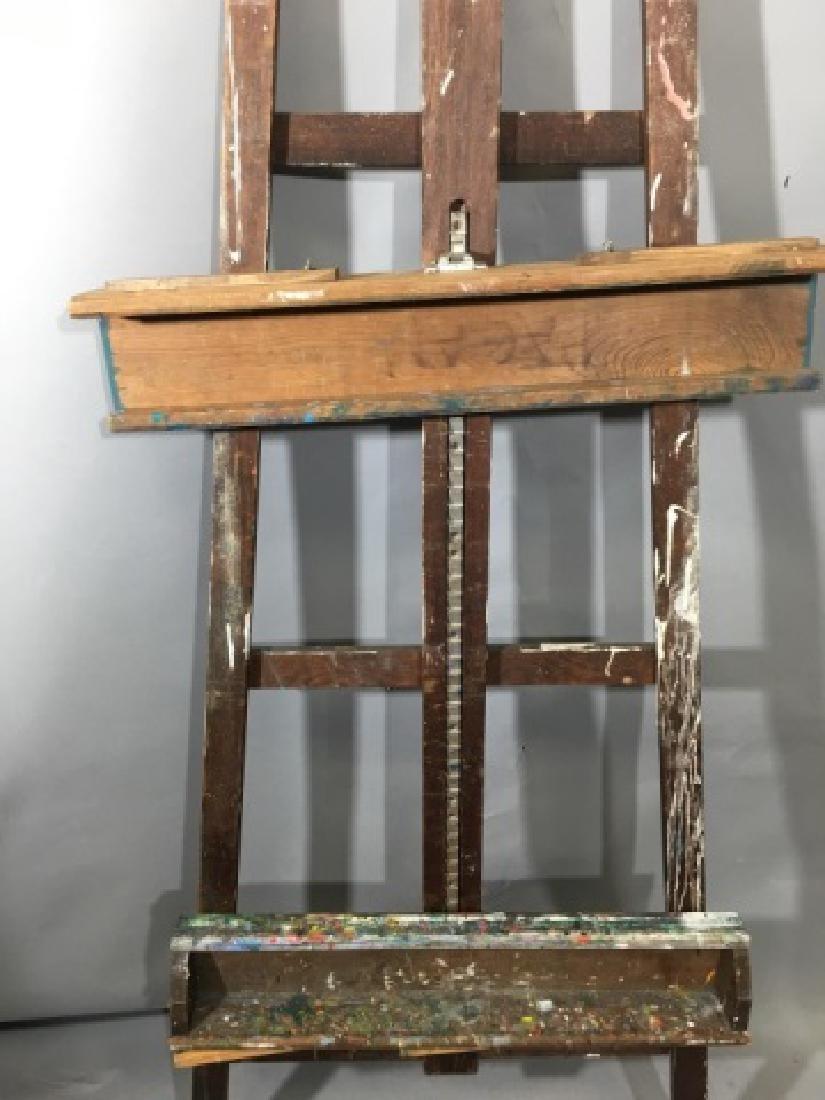 Medium Artist Wooden Crossbar Easel - 3