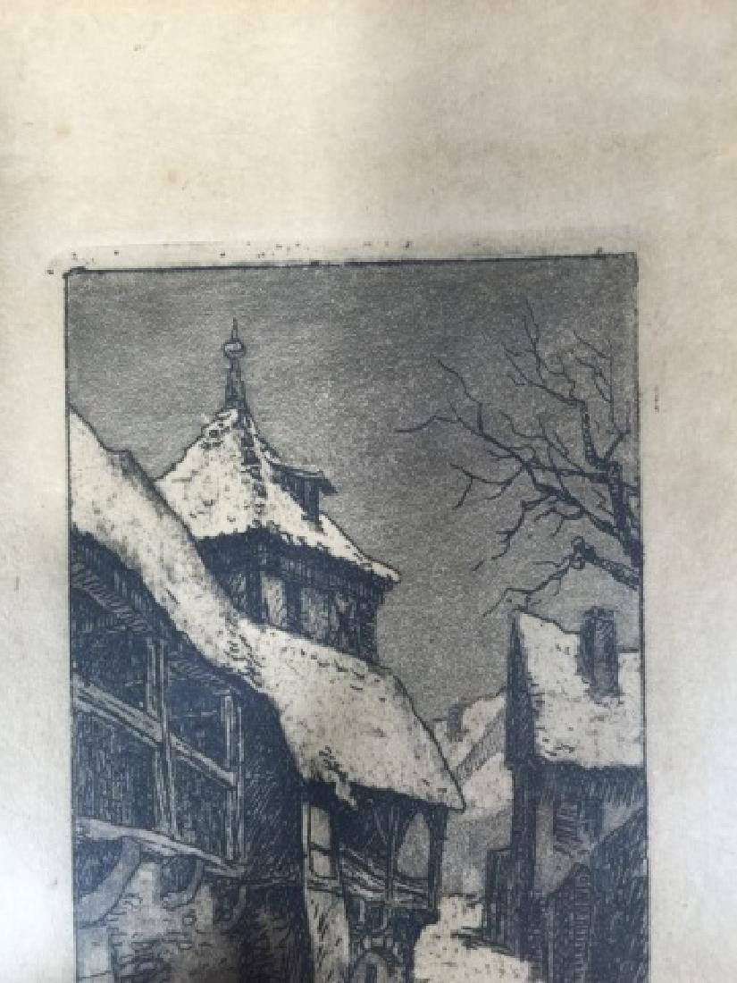 Signed Framed Pen & Ink of Rothenberg, Germany - 4