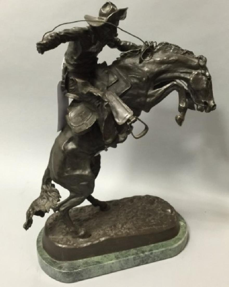 Reissue Frederic Remington Western Bronze Statue