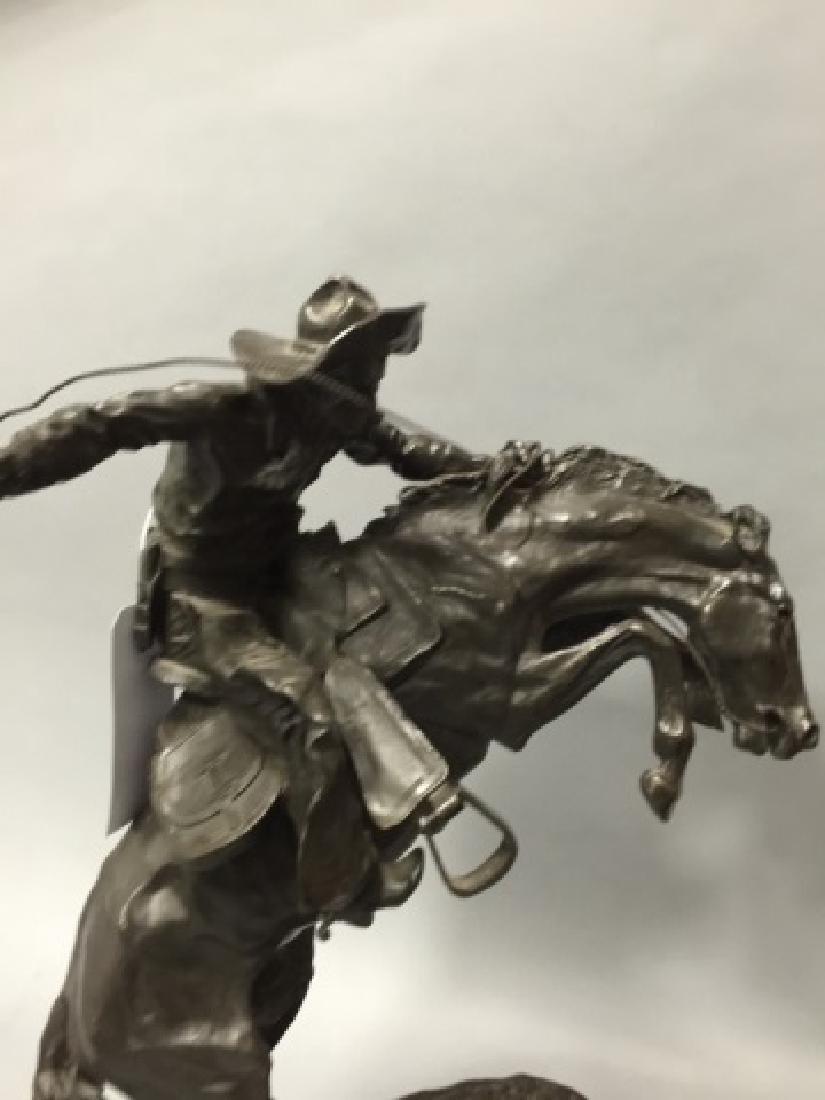 Reissue Frederic Remington Western Bronze Statue - 4