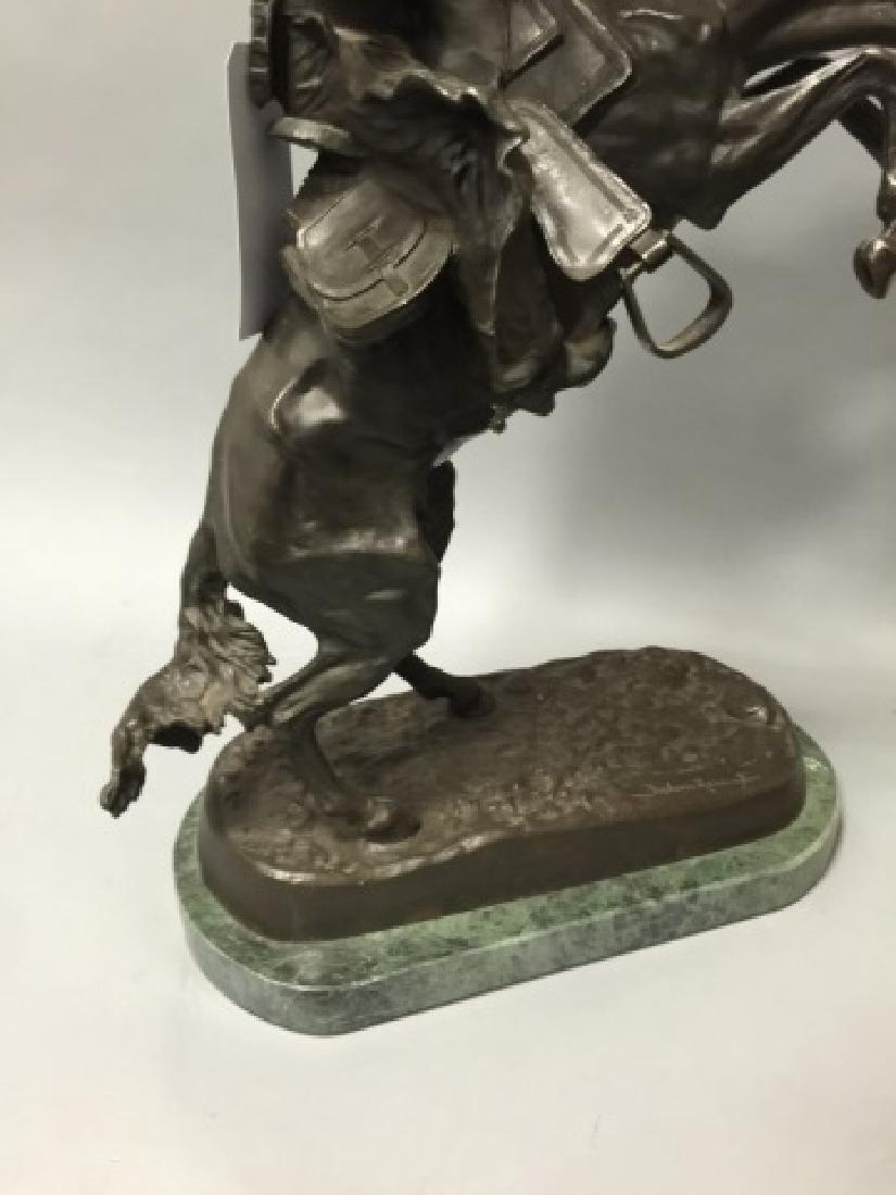 Reissue Frederic Remington Western Bronze Statue - 5