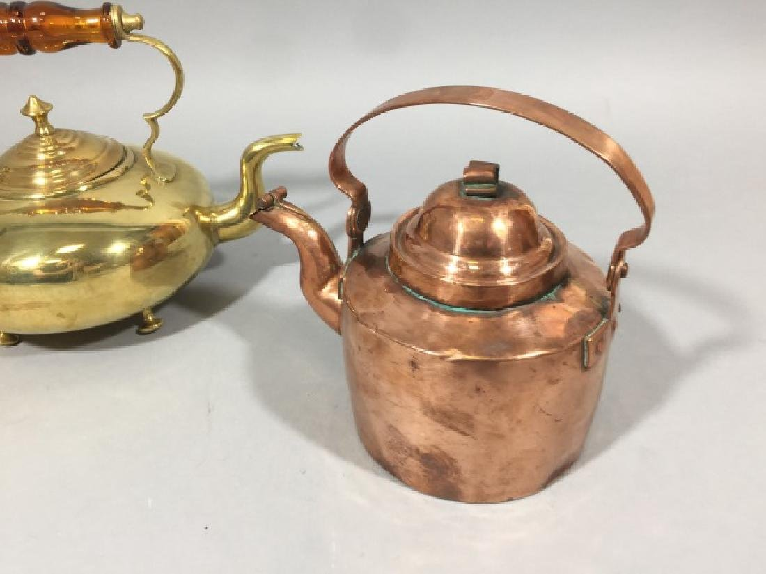 3 Brass & Copper Antique Table or Kitchen Items - 3