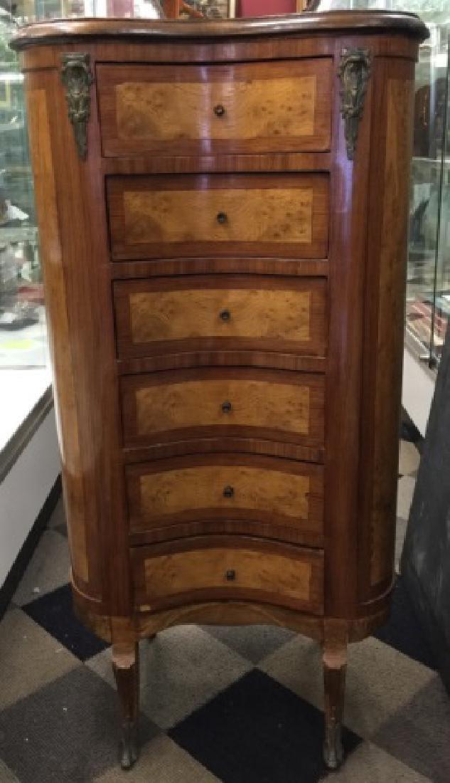 Italian Style 6 Drawer Tall Lingerie Dresser