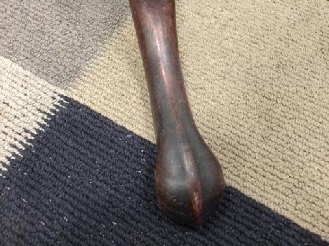 Antique American Flame Mahogany Tilt Top Table - 6
