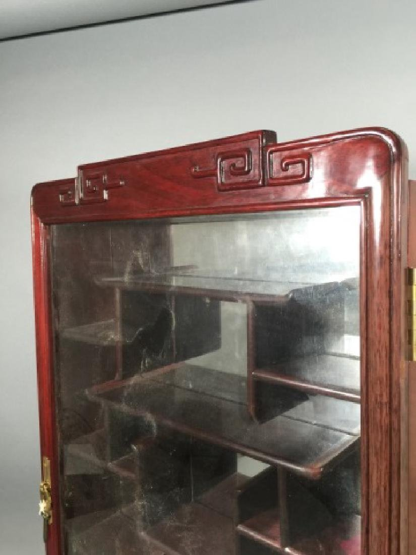 Chinese Snuff Bottle Mirrored Wall Display Case - 3