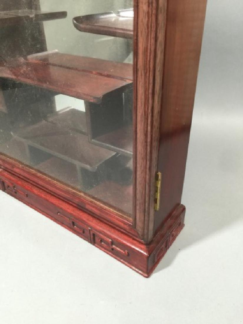 Chinese Snuff Bottle Mirrored Wall Display Case - 4