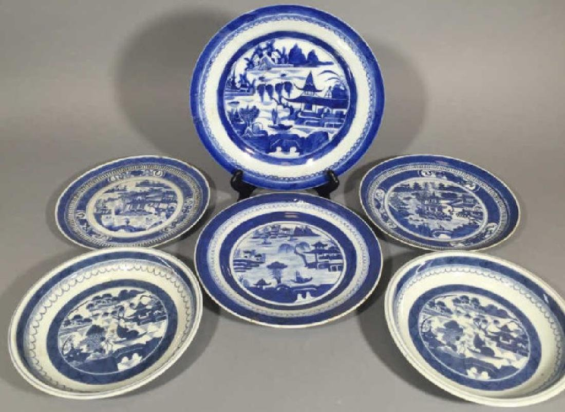Group of Blue & White Chinese Export Porcelain