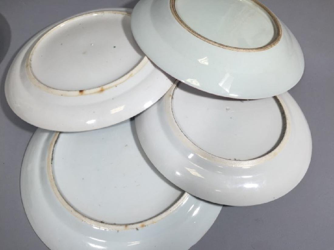 3 Prs of Chinese Export Porcelain Plates US Eagle - 5