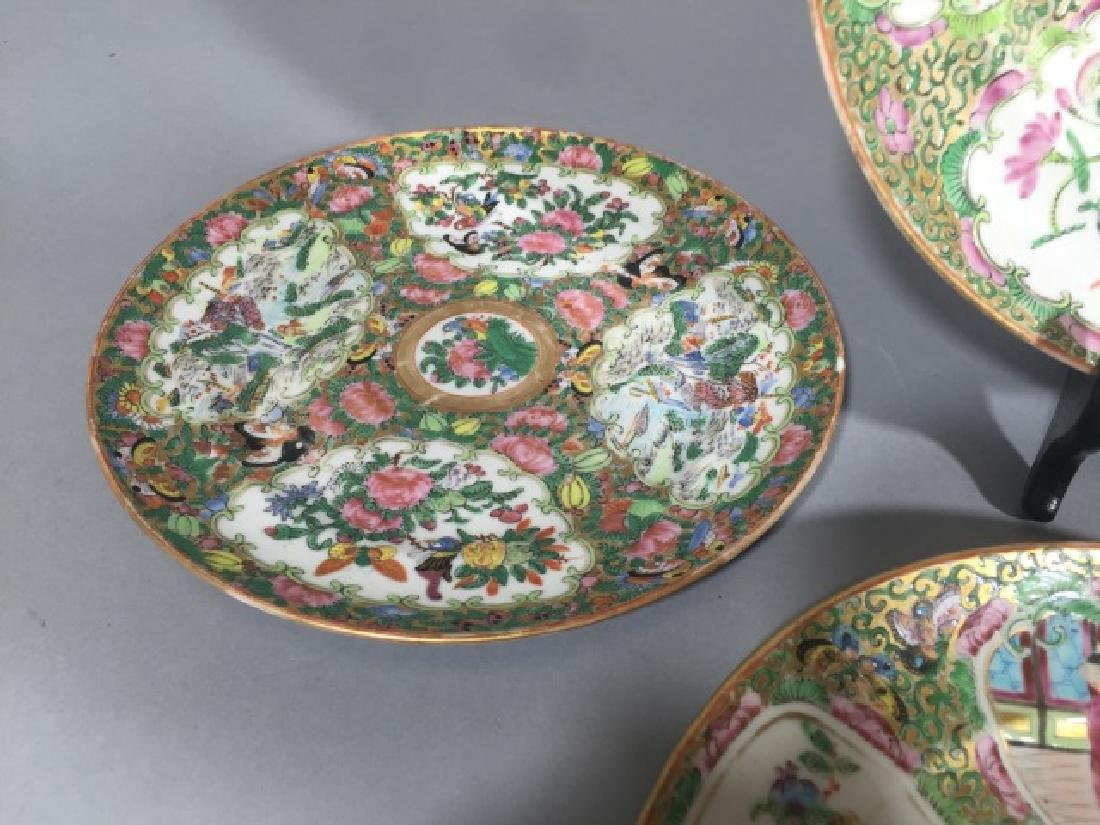 7 Antique Rose Medallion Chinese Porcelain Plates - 6