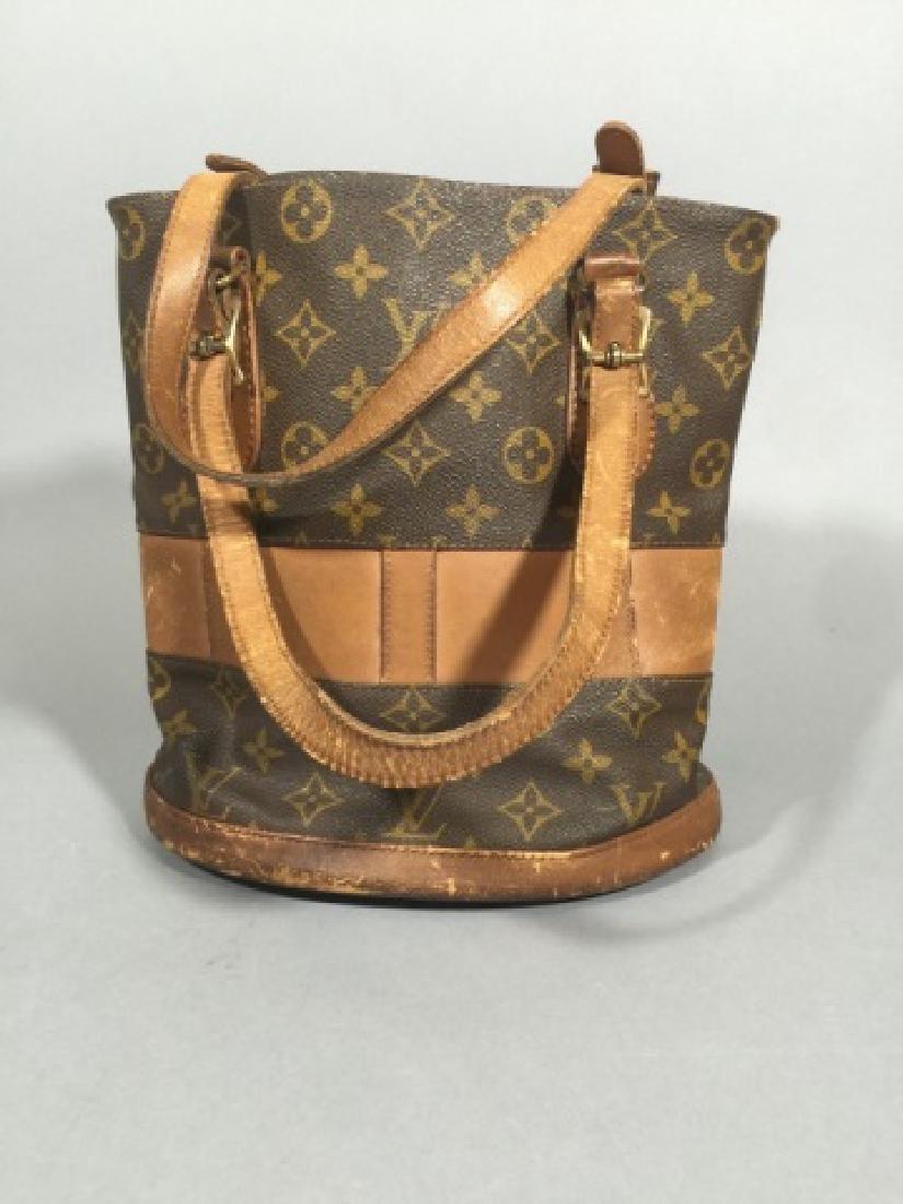 Worn Shabby Chic Louis Vuitton Bucket Bag
