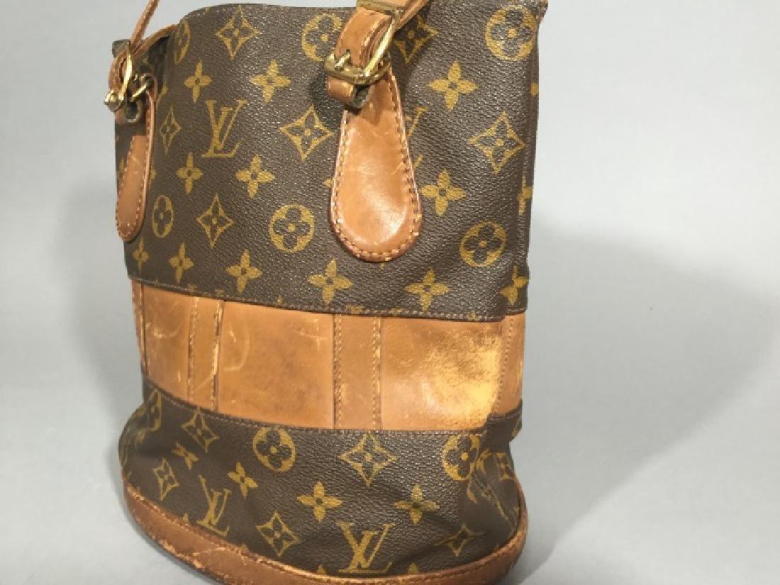 Worn Shabby Chic Louis Vuitton Bucket Bag - 2