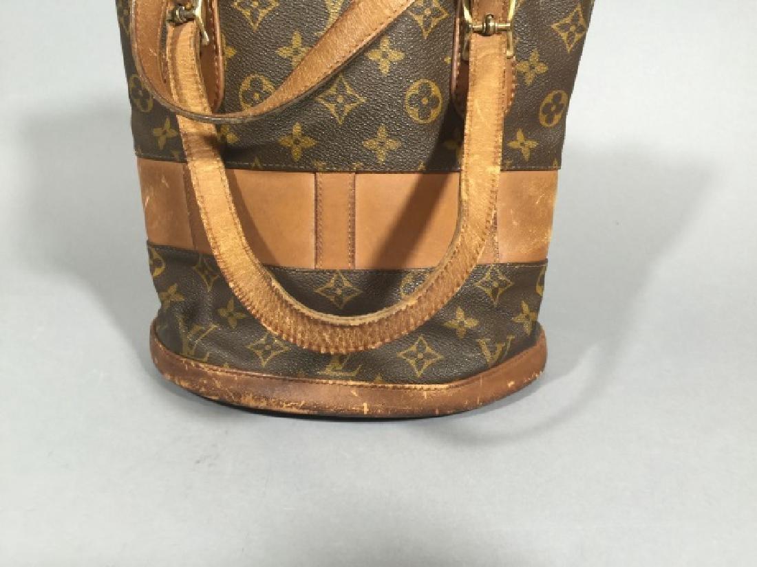 Worn Shabby Chic Louis Vuitton Bucket Bag - 3
