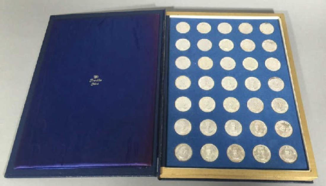 Franklin Mint Presidential Silver Commem. Medals