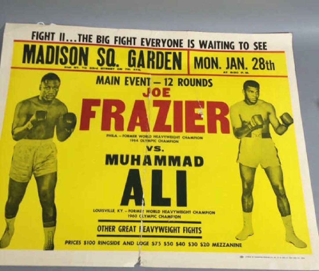 Original Frazier Ali MSG Fight Poster Jan 28, 1974