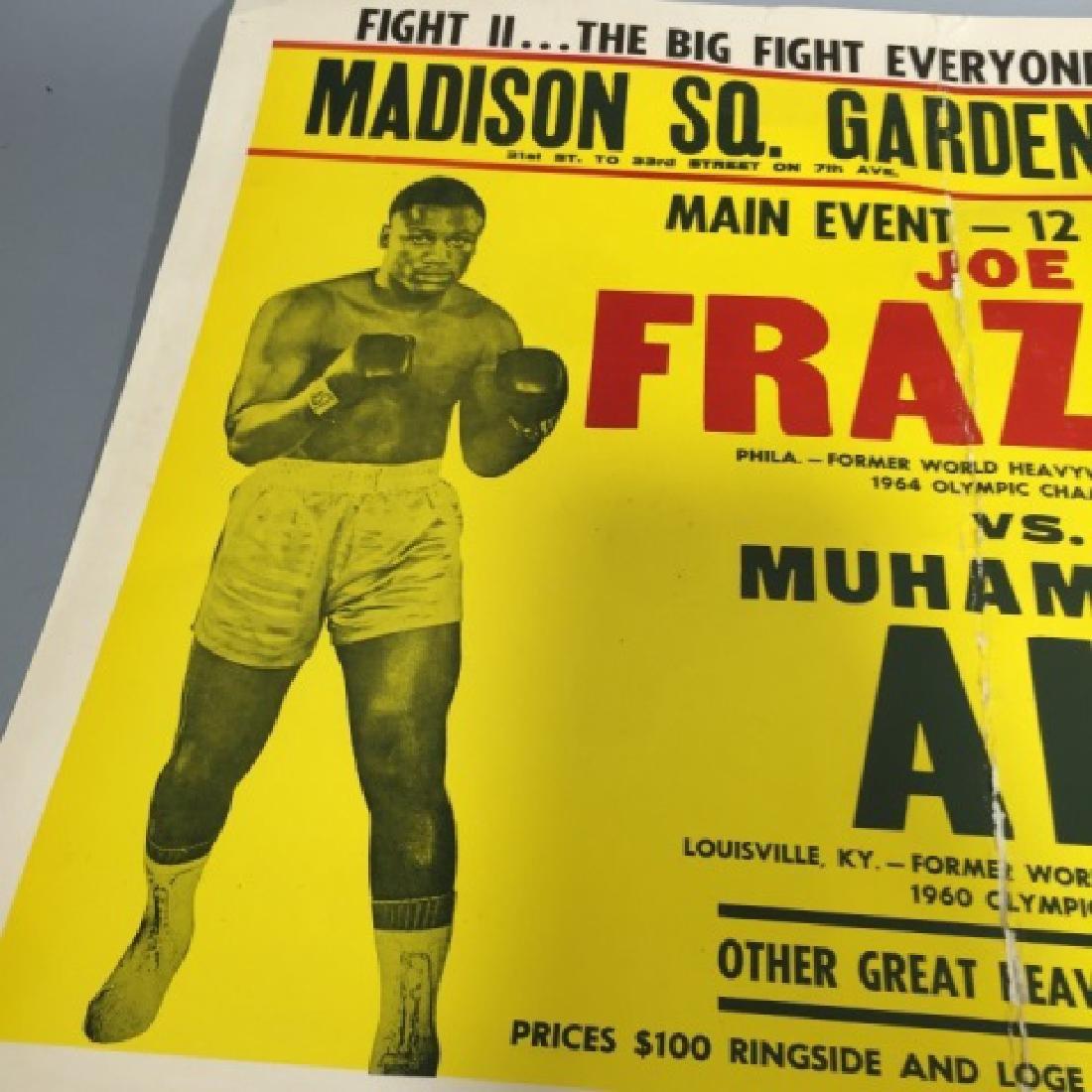 Original Frazier Ali MSG Fight Poster Jan 28, 1974 - 3