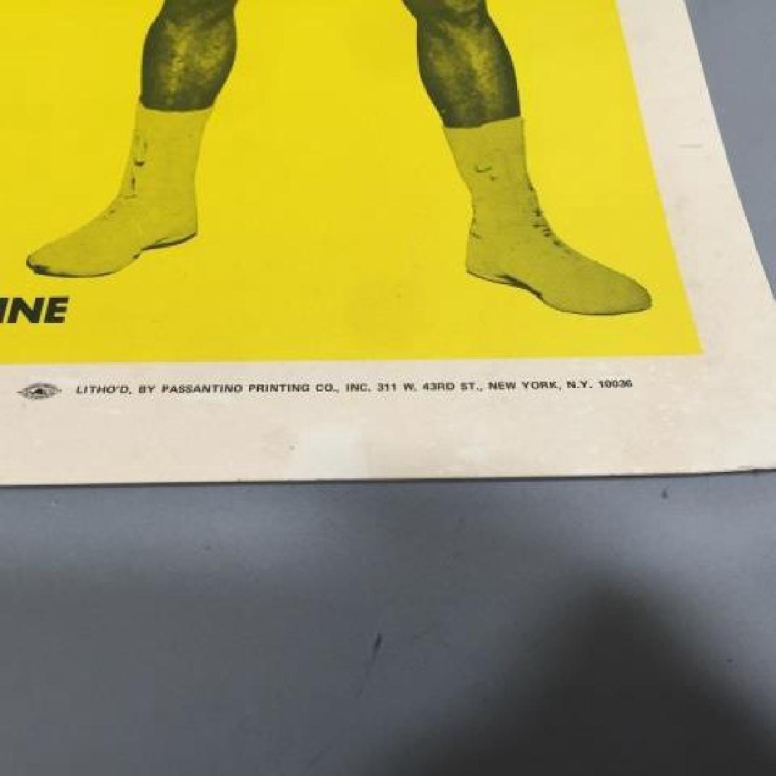 Original Frazier Ali MSG Fight Poster Jan 28, 1974 - 4