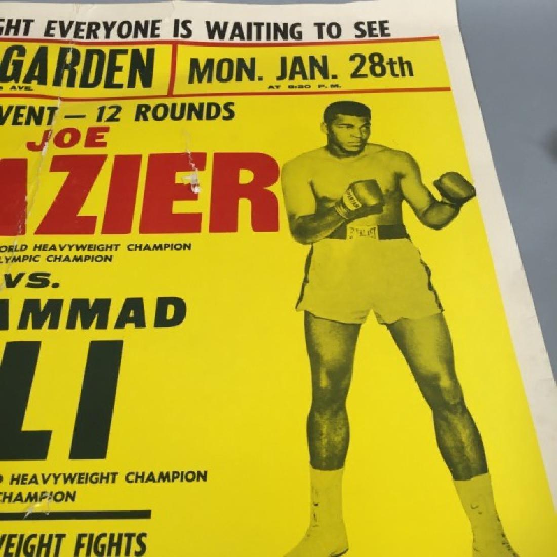 Original Frazier Ali MSG Fight Poster Jan 28, 1974 - 5