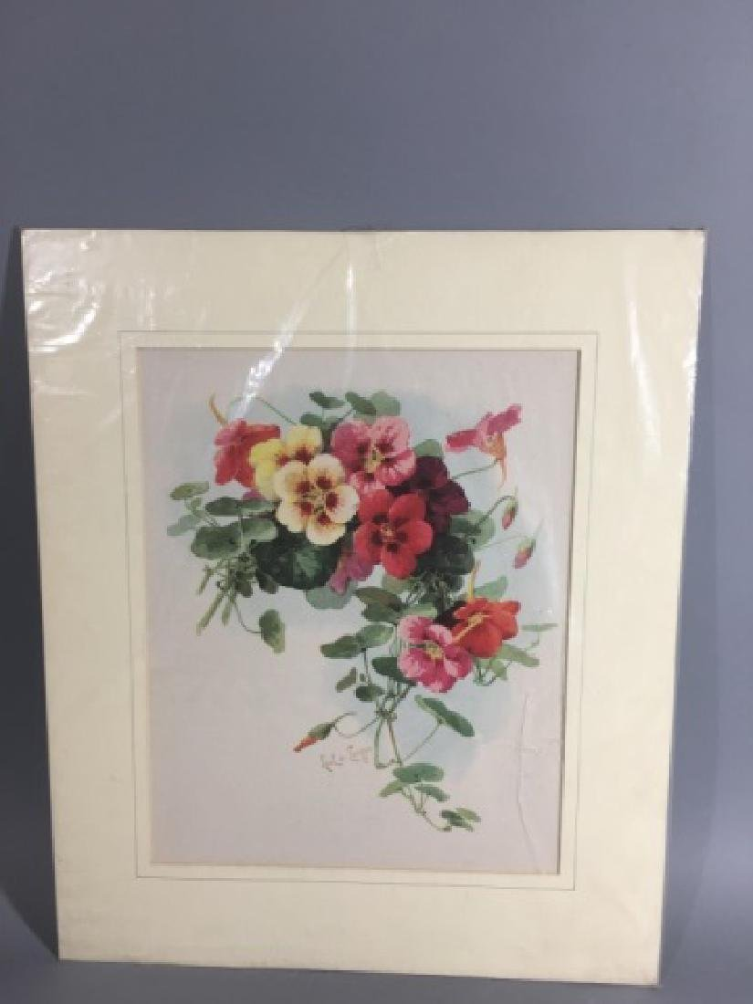 4 19C Botanical Chromolithographs Paul de Longpre - 8