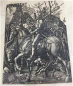 Antique Photogravure of Albrecht Durer Etching