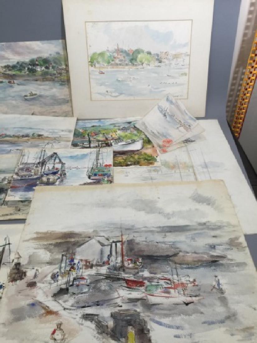 Group of Sailboat Watercolors Grace Huntley Pugh - 2