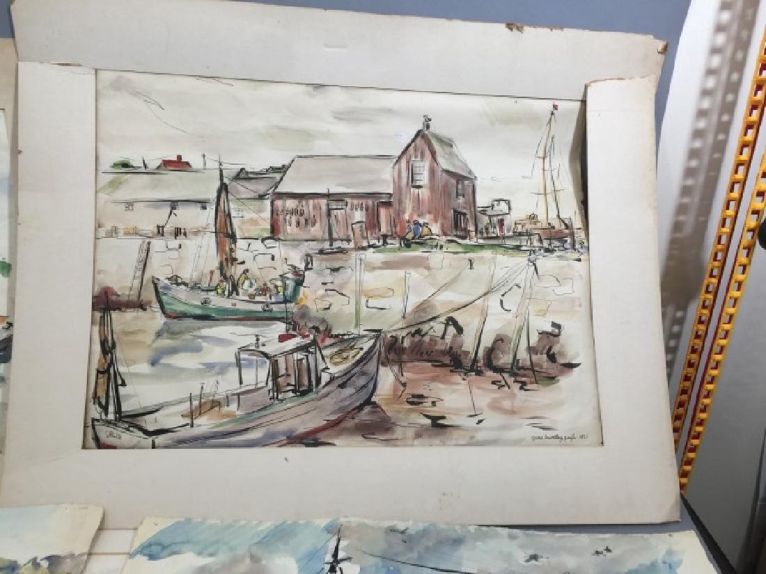 Group of Sailboat Watercolors Grace Huntley Pugh - 3