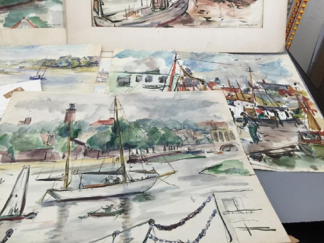 Group of Sailboat Watercolors Grace Huntley Pugh - 4