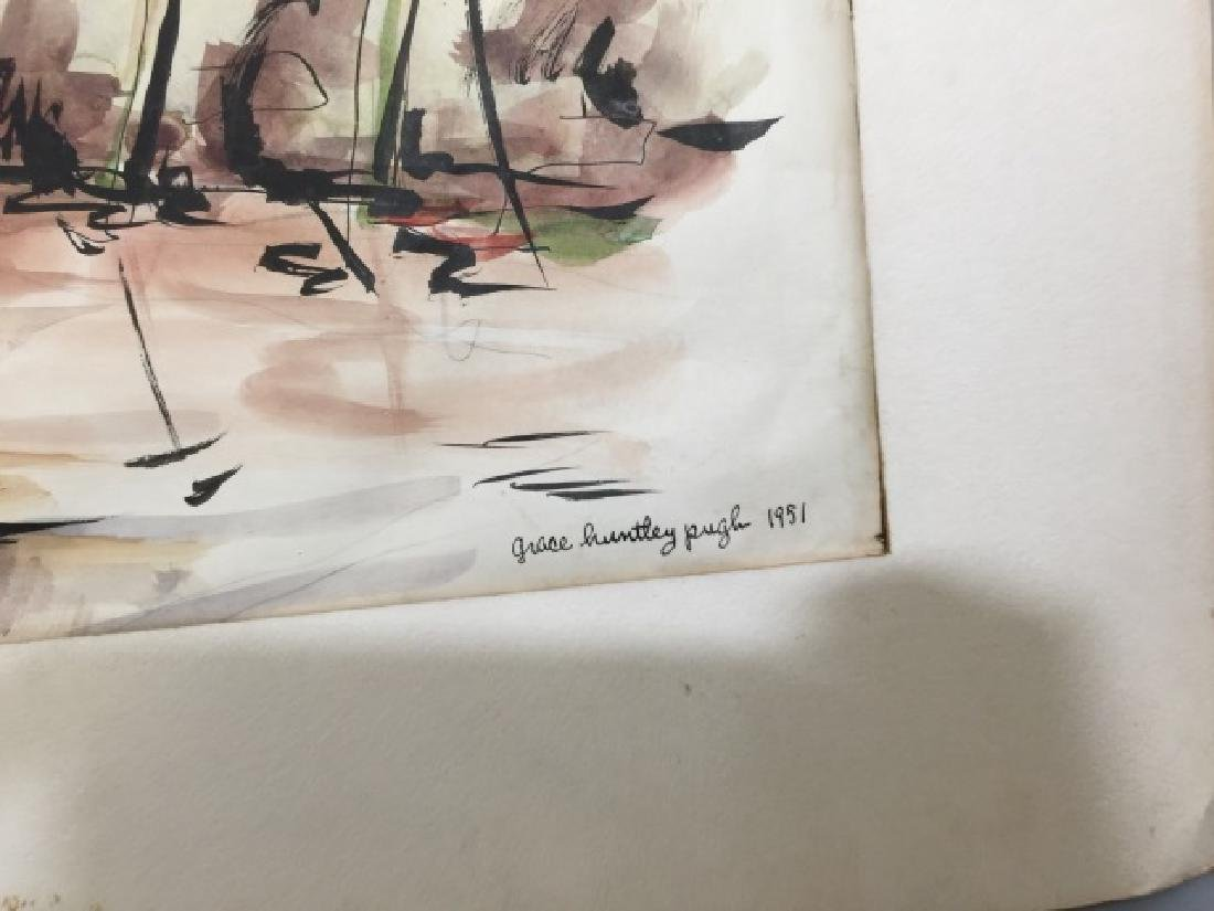 Group of Sailboat Watercolors Grace Huntley Pugh - 5