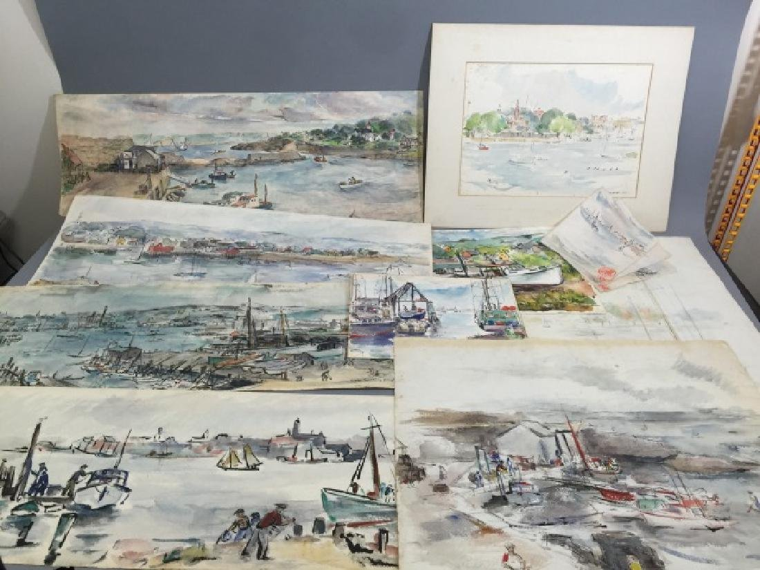 Group of Sailboat Watercolors Grace Huntley Pugh - 6