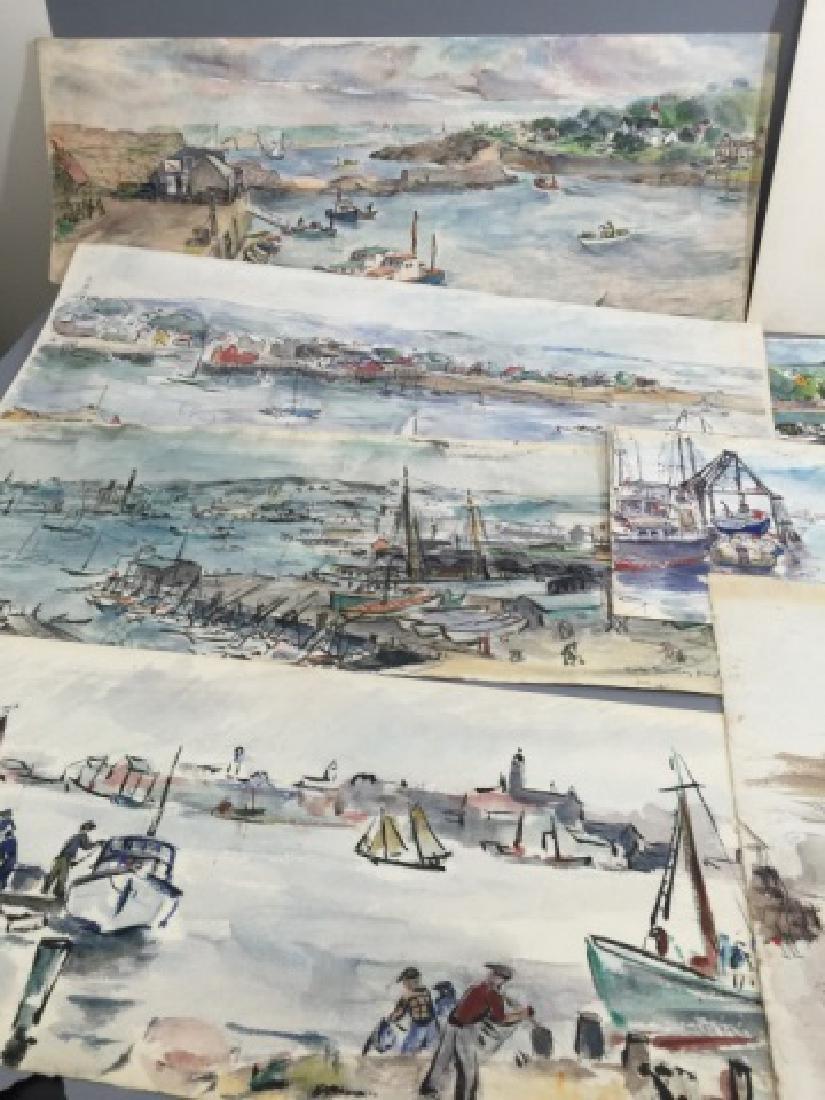 Group of Sailboat Watercolors Grace Huntley Pugh - 7