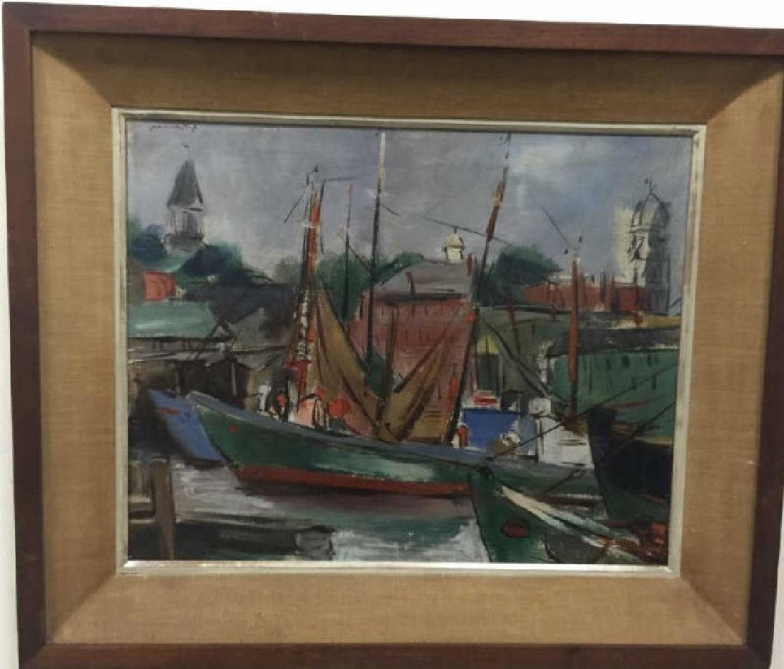 Framed MCM Oil Painting by Grace Huntley Pugh