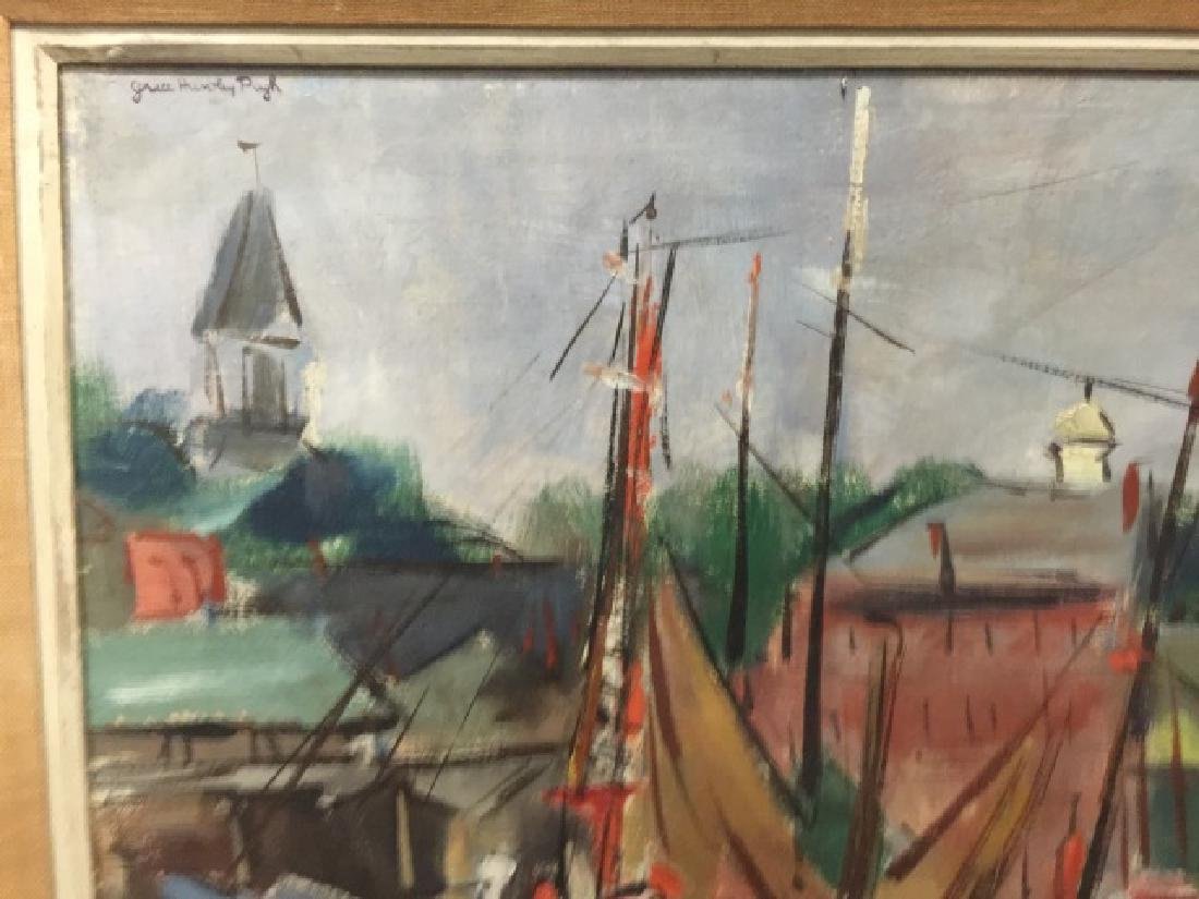 Framed MCM Oil Painting by Grace Huntley Pugh - 4