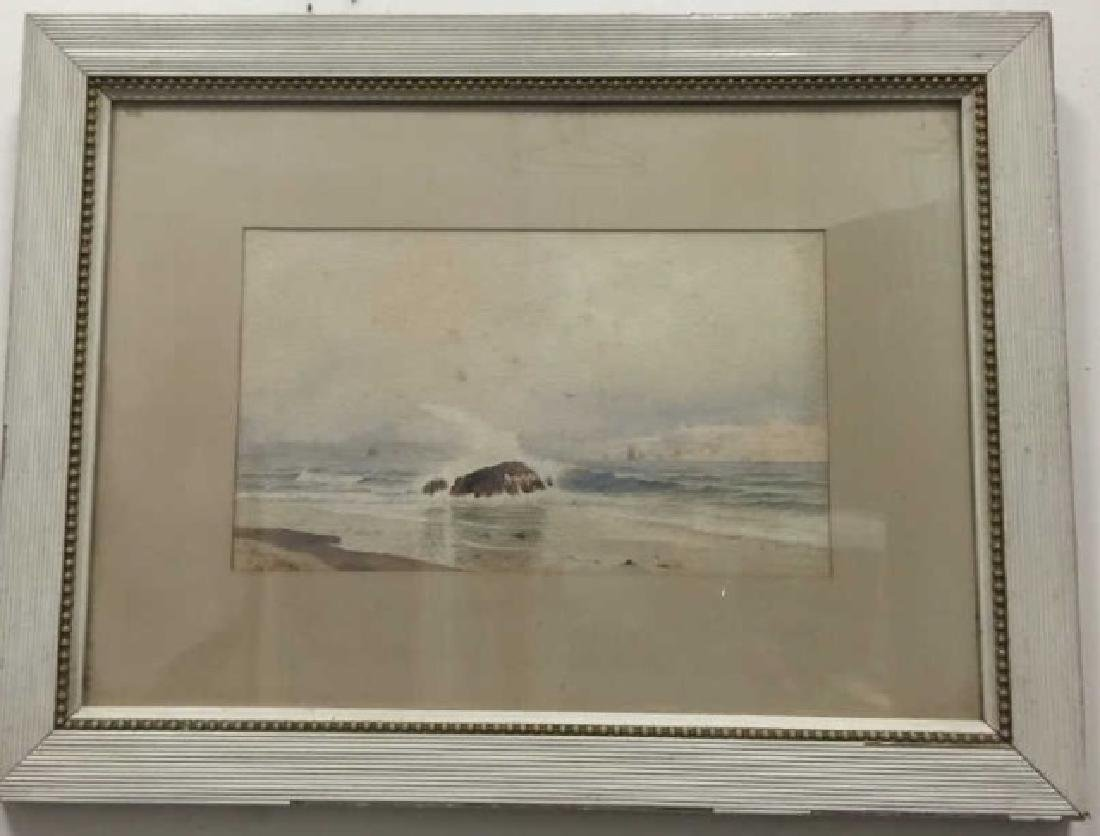 Coastal Watercolor Signed J. B. Foster Dated 1887