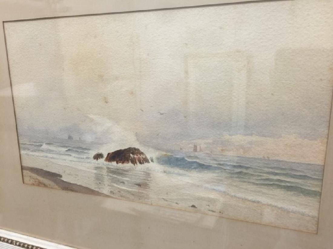 Coastal Watercolor Signed J. B. Foster Dated 1887 - 2