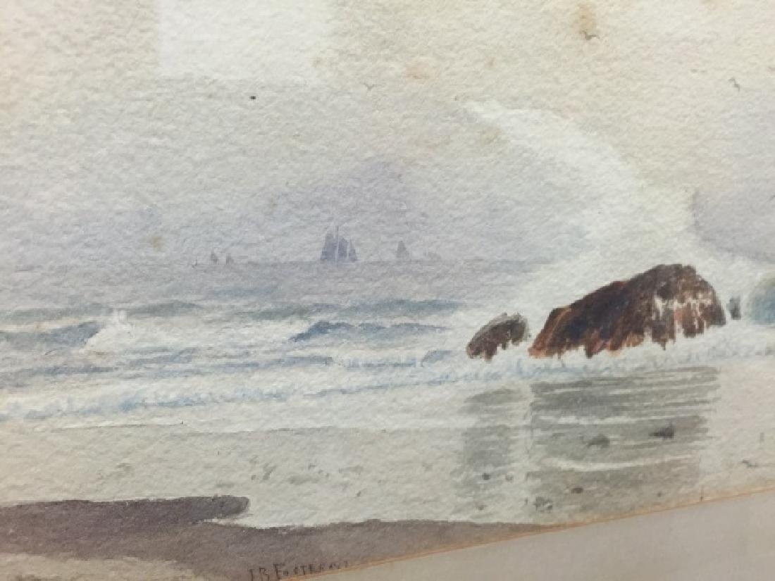 Coastal Watercolor Signed J. B. Foster Dated 1887 - 4